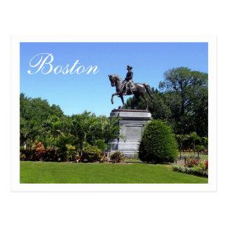 Jardines de Boston, postal de Boston Massachusetts