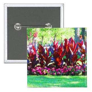 Jardines de flores de la diversión de América los Pin Cuadrada 5 Cm