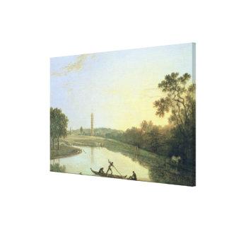 Jardines de Kew: La pagoda y el puente, 1762 (acei Impresiones De Lienzo