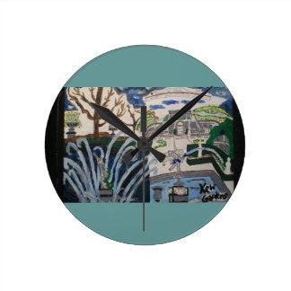 Jardines de Kew, reloj del arte de Inglaterra