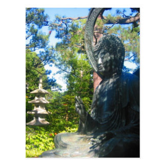 jardines de la estatua de Buda Postal