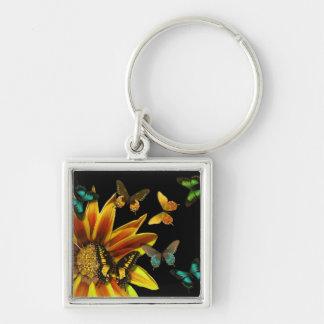 Jardines de la mariposa llaveros personalizados