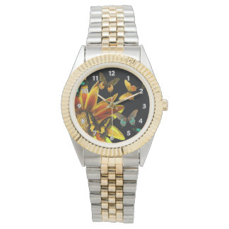 Jardines de la mariposa reloj de mano