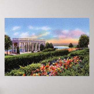 Jardines de Omaha Nebraska Mount Vernon Poster