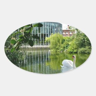 Jardines de Sunderland - de Mowbray Pegatina Ovalada