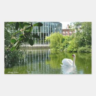 Jardines de Sunderland - de Mowbray Pegatina Rectangular