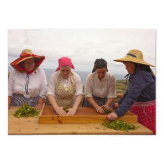 """Jardines de té de Oporto Formoso Invitación 5"""" X 7"""""""