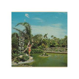 Jardines de Tiki Impresiones En Madera