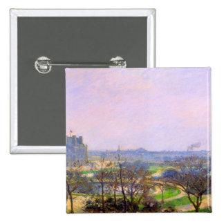 Jardines de Tuileries en el arte de París de Camil Pin Cuadrada 5 Cm