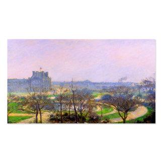 Jardines de Tuileries en el arte de París de Camil Tarjetas De Visita