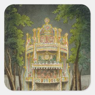 Jardines de Vauxhall, 1808 Pegatinas Cuadradases