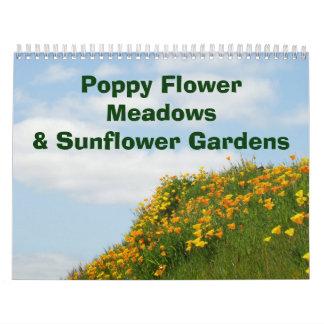 Jardines del girasol de los prados de la flor de l
