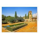 Jardines del La Alhambra en Granada, España Felicitacion