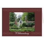 Jardines del palacio, Williamsburg Tarjetón