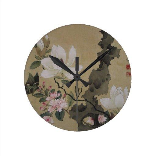Jardines florales relojes de pared