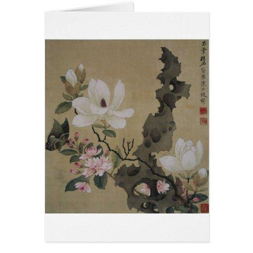 Jardines florales tarjeta