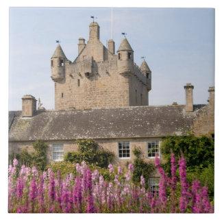 Jardines hermosos y castillo famoso en Escocia 2 Azulejo Cuadrado Grande
