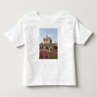 Jardines hermosos y castillo famoso en Escocia 2 Playeras