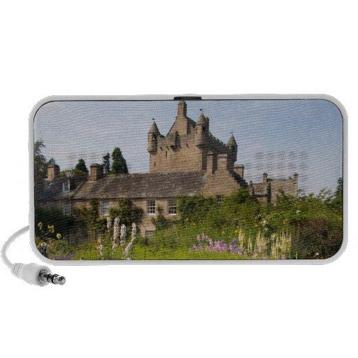 Jardines hermosos y castillo famoso en Escocia Notebook Altavoces
