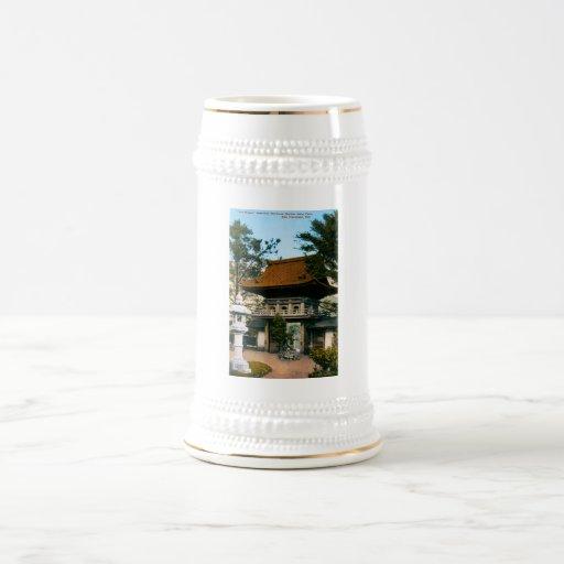 """Jardines japoneses de la casa de té"" Tazas"
