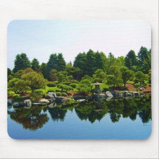 Jardines japoneses en los jardines botánicos de De Tapetes De Ratón