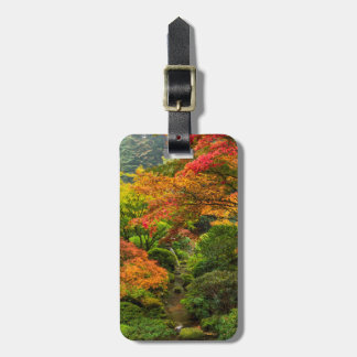 Jardines japoneses en otoño en Portland, Oregon 2 Etiqueta Para Maleta
