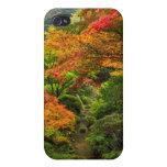 Jardines japoneses en otoño en Portland, Oregon 2 iPhone 4 Funda