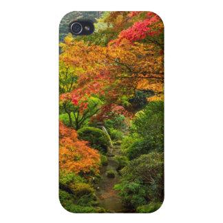 Jardines japoneses en otoño en Portland, Oregon 2 iPhone 4 Fundas