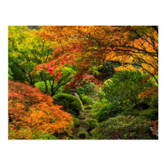Jardines japoneses en otoño en Portland, Oregon 2 Tarjetas Postales