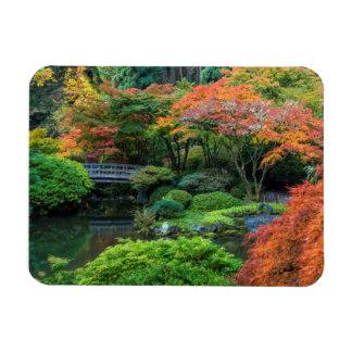 Jardines japoneses en otoño en Portland, Oregon 3 Imanes Rectangulares