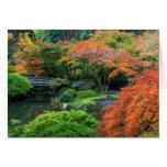 Jardines japoneses en otoño en Portland, Oregon 3 Tarjeta De Felicitación