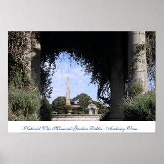 Jardines nacionales Dublín Irlanda del monumento d