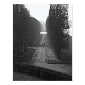 """Jardines negros y blancos de Versalles Invitación 4.25"""" X 5.5"""""""