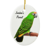 Jardines Parrot Customizable Holiday Ornament