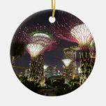 Jardines por la arboleda de Singapur Supertree de  Ornamento De Reyes Magos