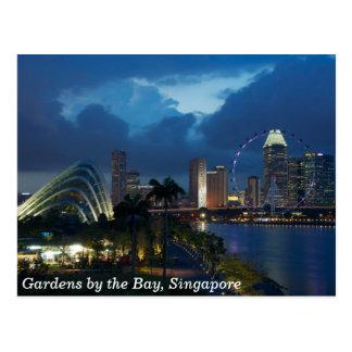 Jardines por la bahía y el aviador de Singapur Tarjeta Postal