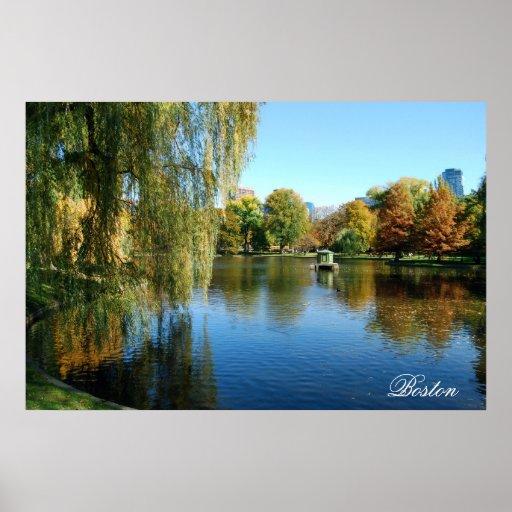 Jardines públicos de Boston Poster
