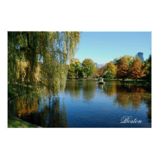 Jardines públicos de Boston Póster