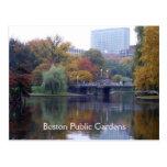 Jardines públicos de Boston Tarjeta Postal