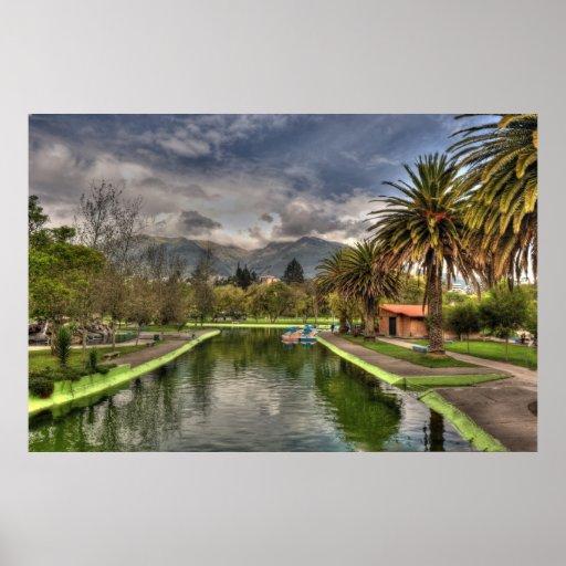 jardines públicos en Quito Póster