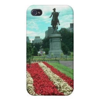 Jardines públicos, flowe de Boston, Massachusetts iPhone 4 Carcasas
