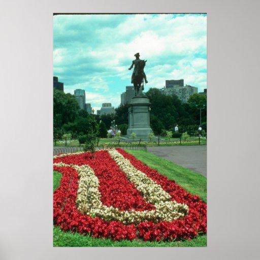 Jardines públicos, flowe de Boston, Massachusetts Posters