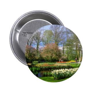 Jardines rojos de Keukenhof, flores de Holanda Pin