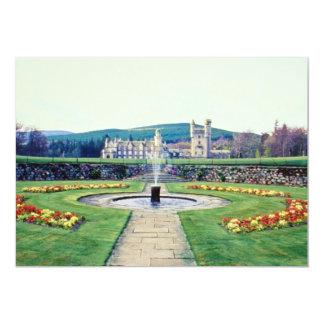 Jardines rojos del Balmoral, flores de Escocia Invitación Personalizada