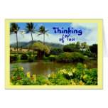 Jardines tropicales de Maui, pensando en usted Felicitación