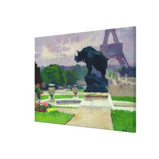 Jardines y rinoceronte de Trocadero por Jacquemart Impresión En Lienzo Estirada