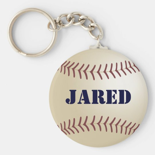 Jared Baseball Keychain by 369MyName