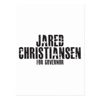 Jared Christiansen para el gobernador 2010 Tarjetas Postales