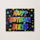 "[ Thumbnail: ""Jared"" First Name, Fun ""Happy Birthday"" Jigsaw Puzzle ]"