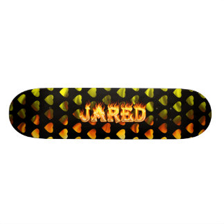 Jared skateboard fire and flames design